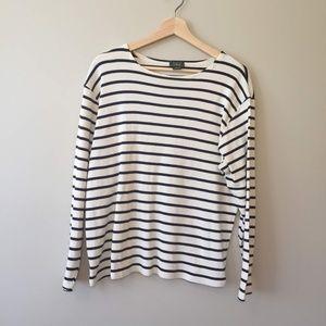 L.L. Bean 100% Cotton Striped Long Sleeve Shirt